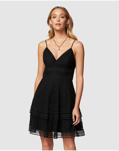 Forever New - Isabel Tiered Lace Mini Dress