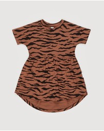 Huxbaby - Tiger Swirl Dress - Kids 6-8