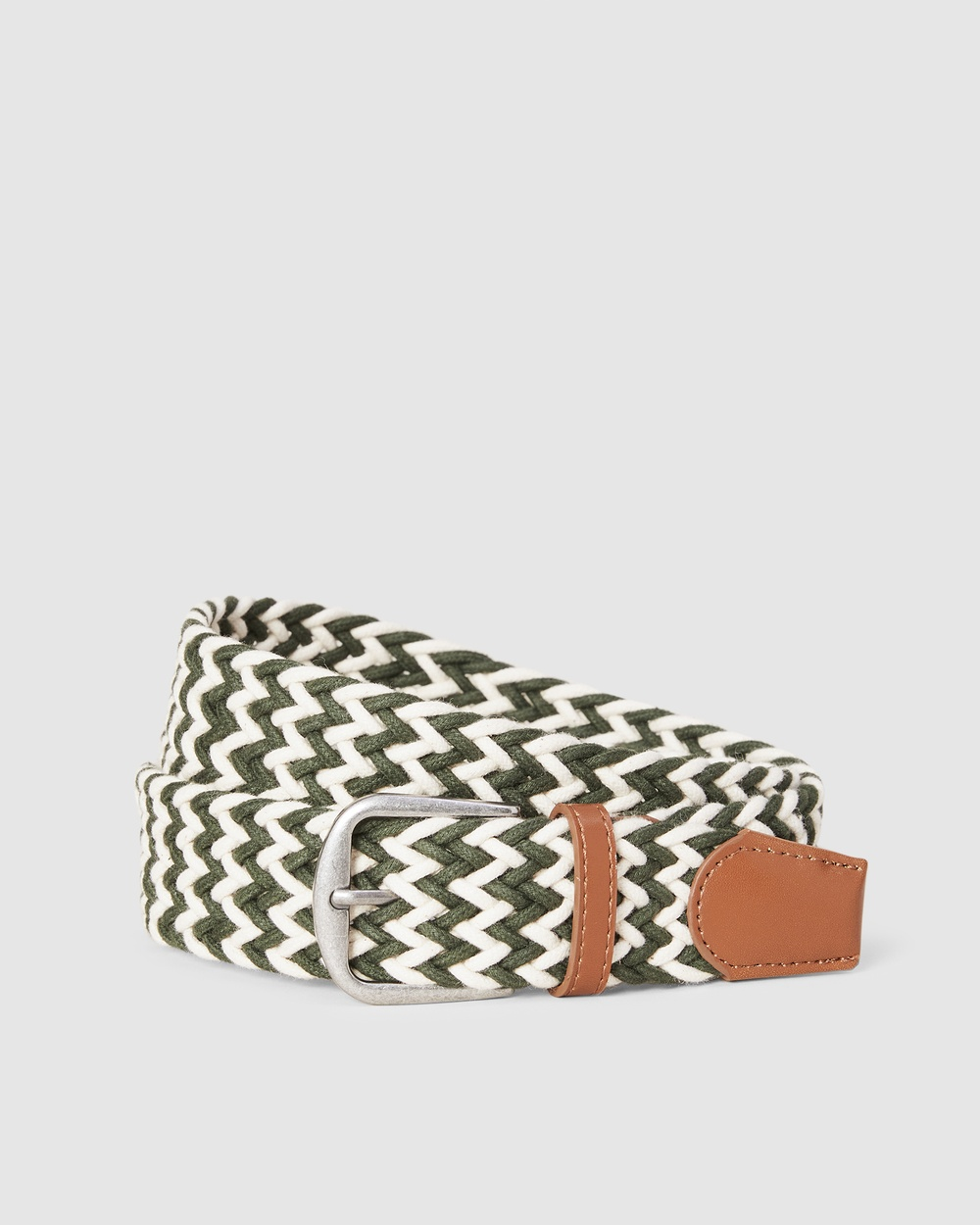 French Connection Rope Belt Belts ECRU/MOSS