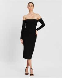 Alex Perry - Chase Stretch Off-Shoulder LS Dress