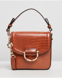 TOPSHOP - Carrie Croc Shoulder Bag