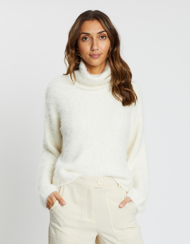 Vero Moda - Poilu LS Roll-Neck Knit