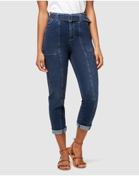 Jeanswest - Avril High Waisted Belted Straight