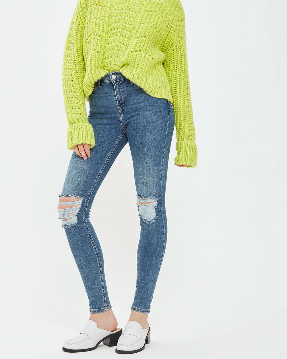 787c8d2bfdb MOTO Ripped Jamie Jeans by TOPSHOP Online   THE ICONIC   Australia