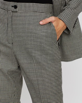 Farage Loren Houndstooth Trousers - Pants (Black & White)