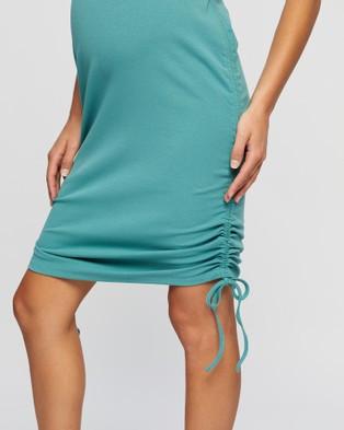 Angel Maternity Maternity and Nursing Bodycon Dress - Dresses (Mint Green)