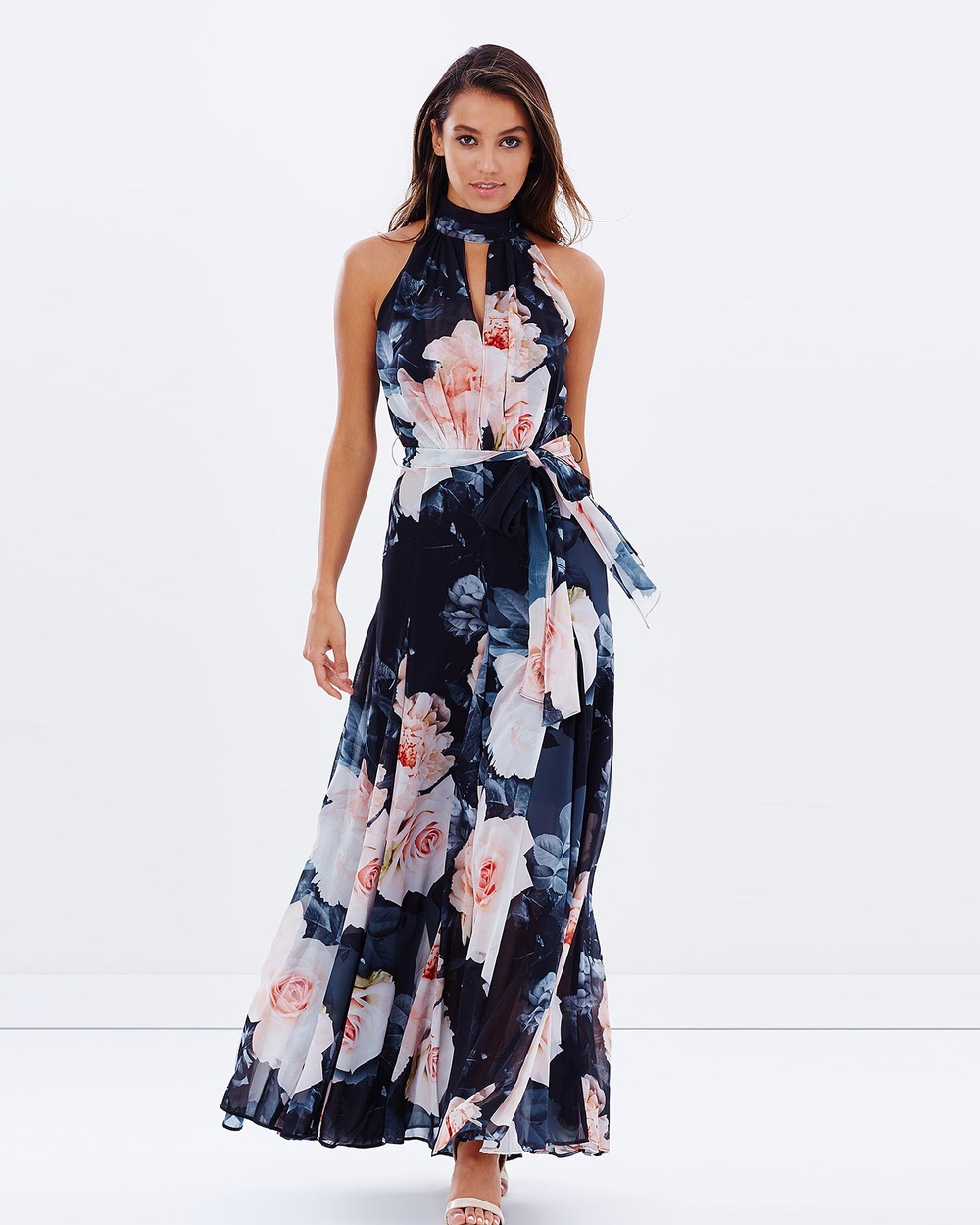 Montique Vanessa Chiffon Gown Dresses Black Print Vanessa Chiffon Gown