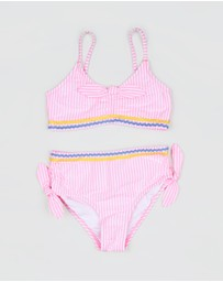 crewcuts by J Crew - Olivia Seersucker Bow Two-Piece - Kids