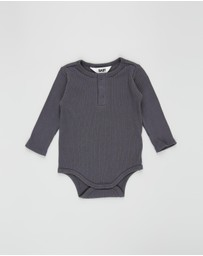 Cotton On Baby - LS Button Bubbysuit - Babies