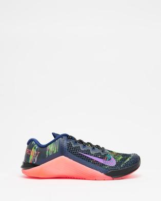 Nike Metcon 6 AMP   Women's - Training (Blue Void, Flash Crimson, Flat Silver & Vivid Purple)