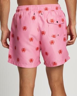 Buba & La Octopus Swim Shorts - Swimwear (Pink)