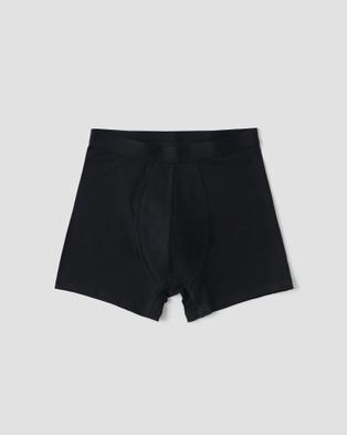Organic Basics 2 Pack Silvertech Everyday Boxers Underwear & Socks Black 2-Pack