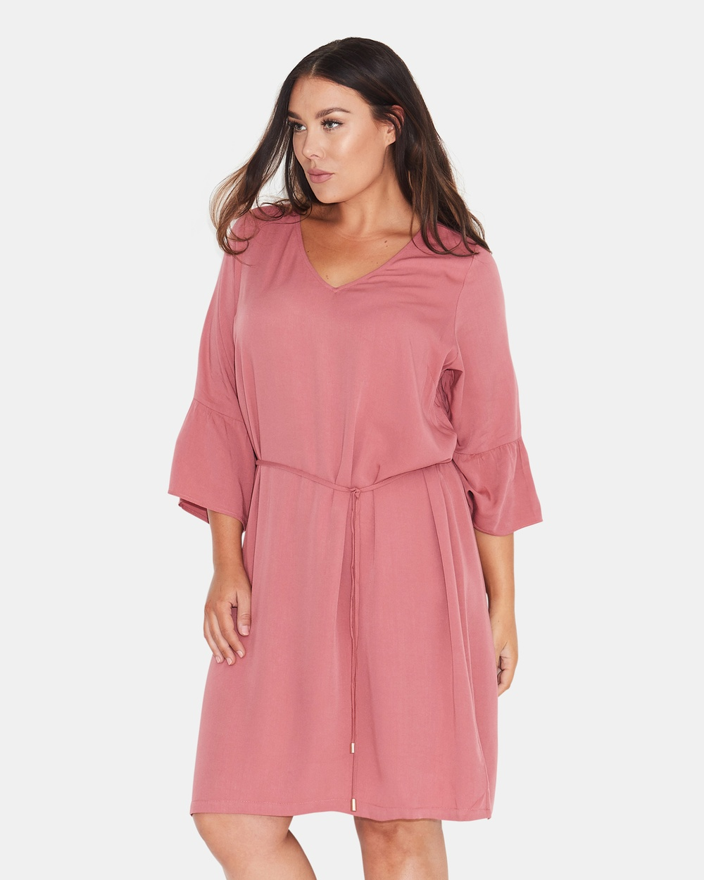 17 Sundays Basic Frill Cuff Shift Dress Dresses Pink Basic Frill Cuff Shift Dress