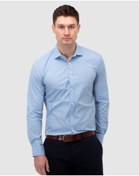 Brooksfield - Dot Print Reg Fit Business Shirt