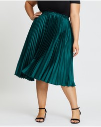 Atmos&Here Curvy - Pleated Midi Skirt