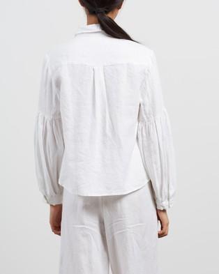 Des Sen Corbusier Crop Shirt - Tops (Blanca)