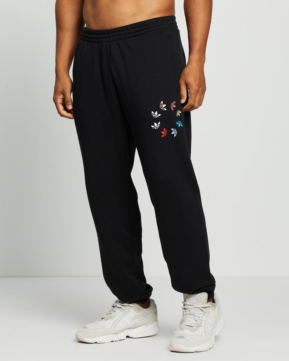 adidas Originals Adicolor Shattered Trefoil Sweat Pants Black & Multicolour