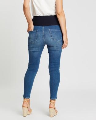 Angel Maternity High Waist Slim Jeans - Slim (Blue)