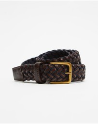 Scotch & Soda - Braided Leather and Cord Belt