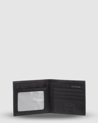 Cobb & Co Marcus Men feet s the Leather RFID Blocking Wallet - Wallets (Black)