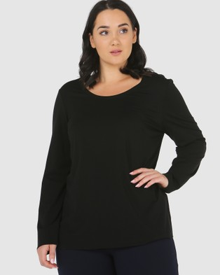 Advocado Plus Essential Long Sleeve Top - Dresses (Black)
