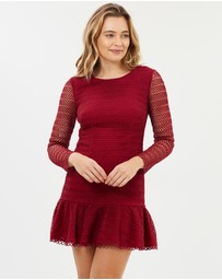 Honey and Beau - Isabelle Ruffle Hem Dress