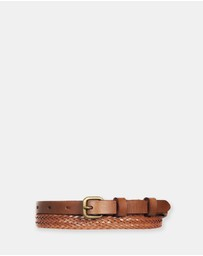 Status Anxiety - Only Lovers Left - Tan Plaited Belt SM