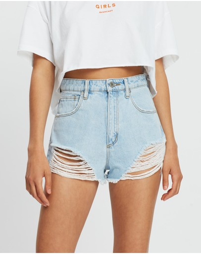 Abrand A High Relaxed Shorts Salty Stone