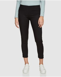 Oxford - Jackie Zipper Crop Stretch Pants