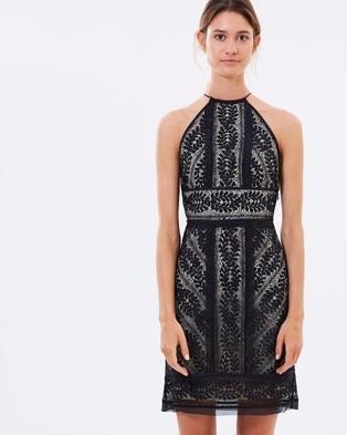 Lover – Helix Halter Dress – Dresses (Black)