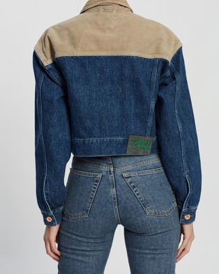 Tommy Jeans Cropped Trucker Jacket - Denim jacket (New Care Mix Rig)