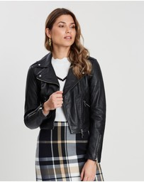 Karen Millen - Cropped Leather Jacket