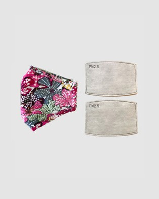 Clear Collective - Reusable Cotton Face Mask Wellness (Pink Flower)