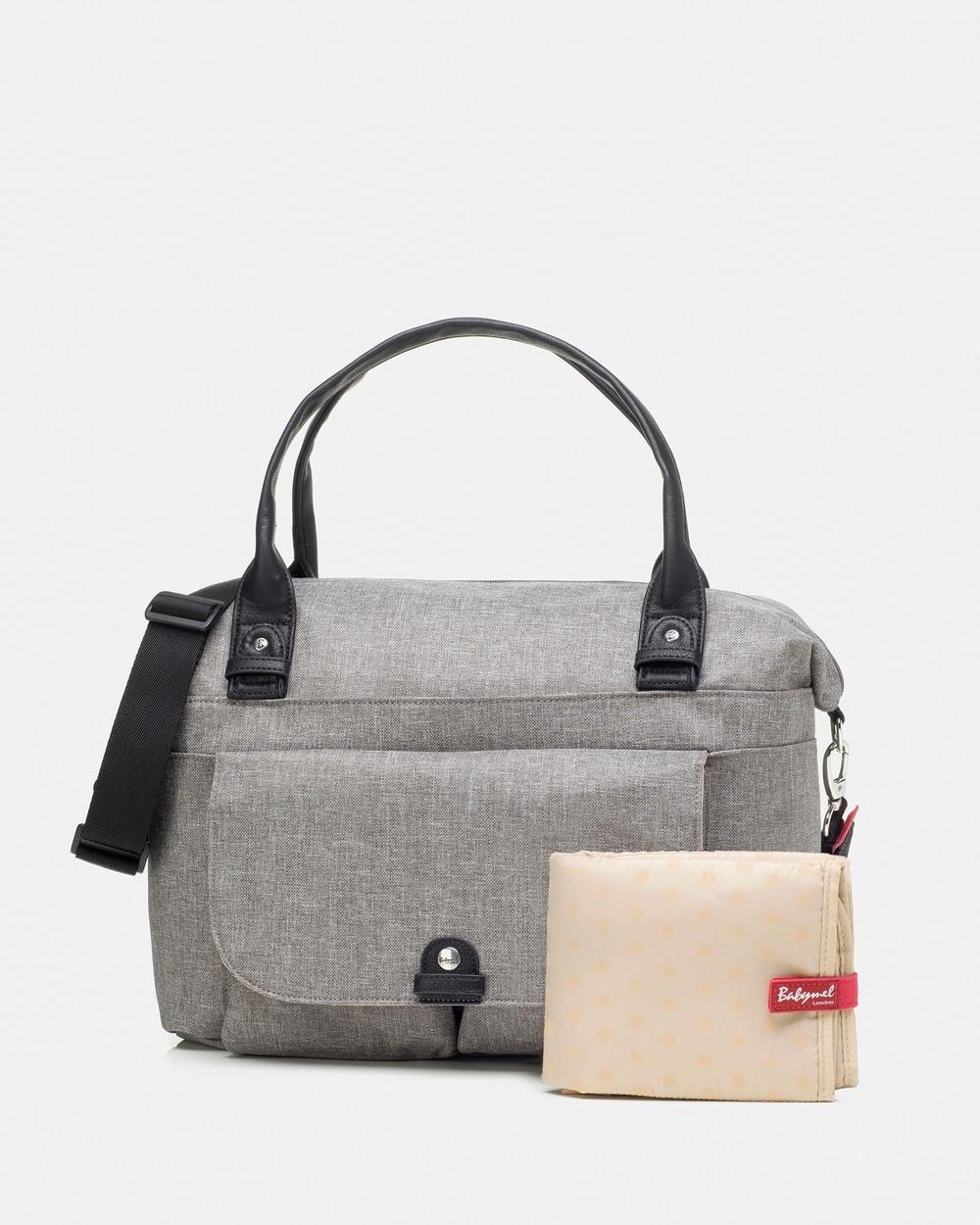 Babymel Jade Nappy Bag Handbags Grey