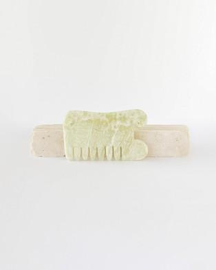 The Seeke Jade Gua Sha Board and Comb - Tools (Jade)