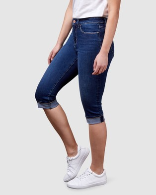 Jeanswest Repreve Mid Waist Pedal Pusher - Crop (Dark Vintage)