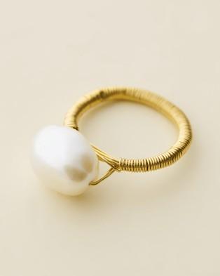 Amber Sceats Jad?? Tunchy x Amber Sceats Ocean Ring - Jewellery (Gold)