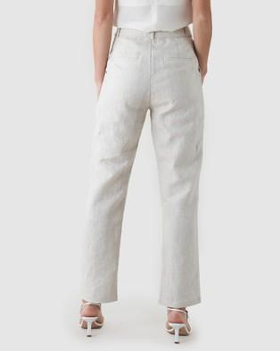 Amelius Azure Linen Pant - Pants (Beige)