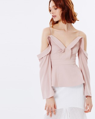 C/MEO COLLECTIVE – Because You Do Long Sleeve Top Blush