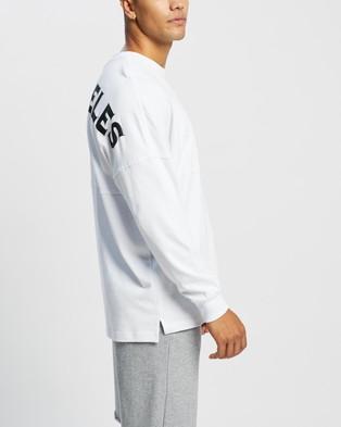 Majestic - Rando Long Sleeve Tee T-Shirts (White)
