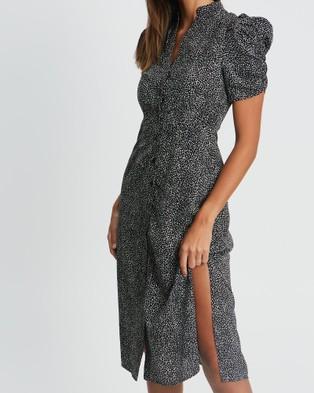 Reux Zara Midi Dress - Dresses (Black Fleck)
