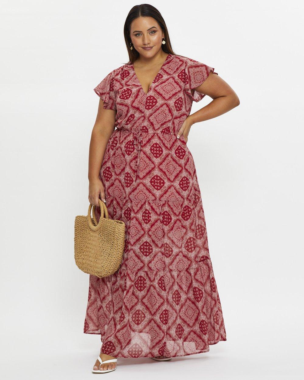 Plus Boho Print Tiered Skirt Midi Dress by You & All Online   Ietp ...