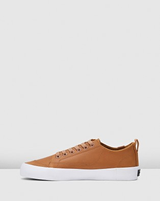 Volley Deuce Leather Low - Low Top Sneakers (Tan Leather)