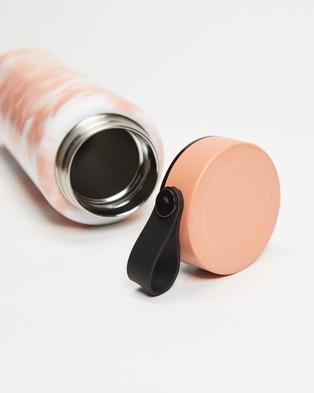 Australia Typo On the Move Metal Drink Bottle 1L Water Bottles (Peach Tie Dye)