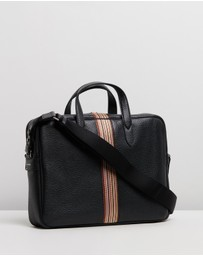 Paul Smith - Signature Stripe Leather Business Folio