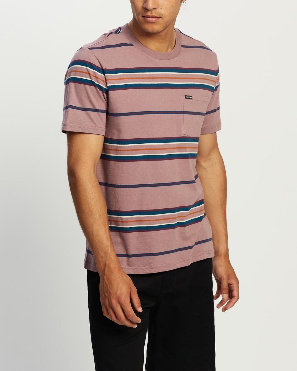 Brixton Hilt SS Pocket Knit Tee T-Shirts & Singlets Washed Concord Australia