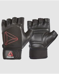 Reebok - Lifting Gloves - Black, Red/Large