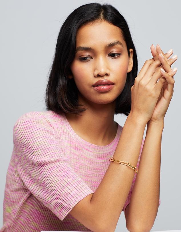 Women Long Link Mixed Chain Bracelet