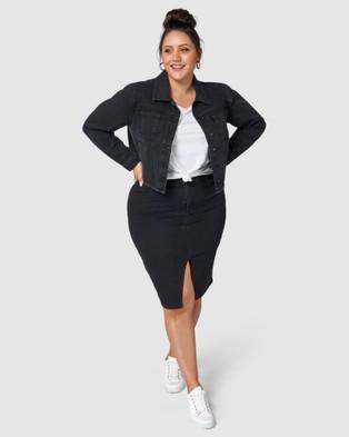 Indigo Tonic Madison Denim Jacket - Denim jacket (black)