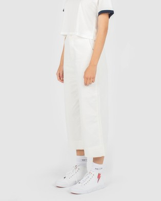 Cools Club High Rise Relax Pants - Pants (White)